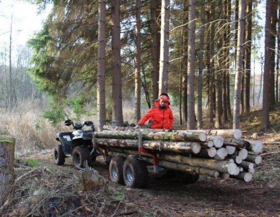 Etwas Neues genug ATV Holzanhänger Waldarbeiter - ATVanhänger.de &NE_49