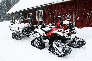 ATVs auf Schnee