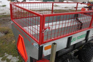 Gitteraufbau - Quad Anhänger Arbeiter